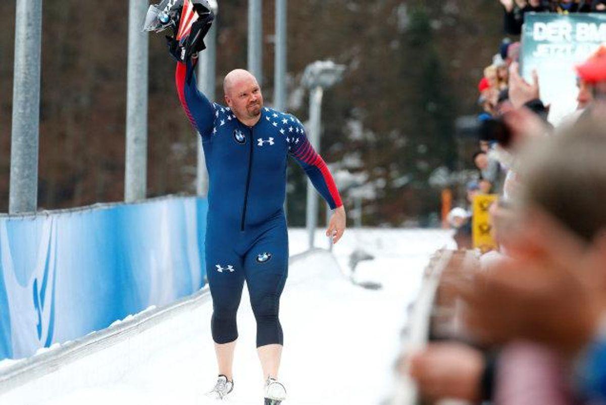 Den olympiske bobslædekører Steven Holcomb blev natten til lørdag (6. maj) fundet død på sit værelse i et olympisk træningscenter i Lake Placid, New York. Foto: Scanpix.