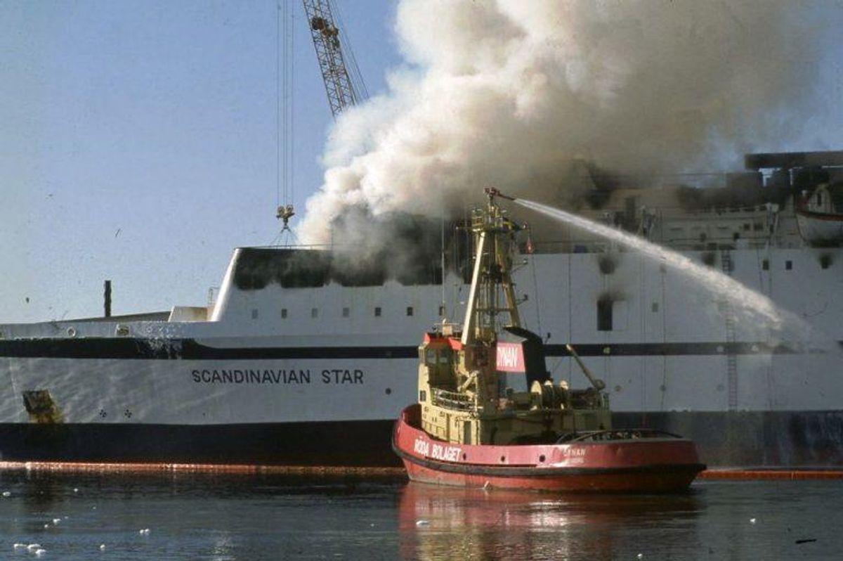 En ny undersøgelse fastslår, at der ikke er beviser for, at branden på Scandinavian Star var et udslag af sabotage. (Foto: CLAUS BJØRN LARSEN/Scanpix 2013)