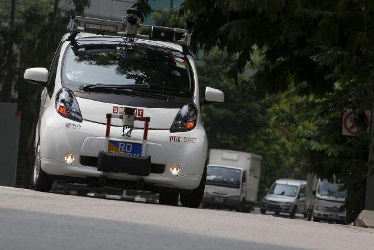 Selvkørende biler kan i en forsøgsordning komme ud på danske veje. Det har et flertal i Folketinget stemt for. (Arkivfoto) Foto: Edgar Su/Reuters