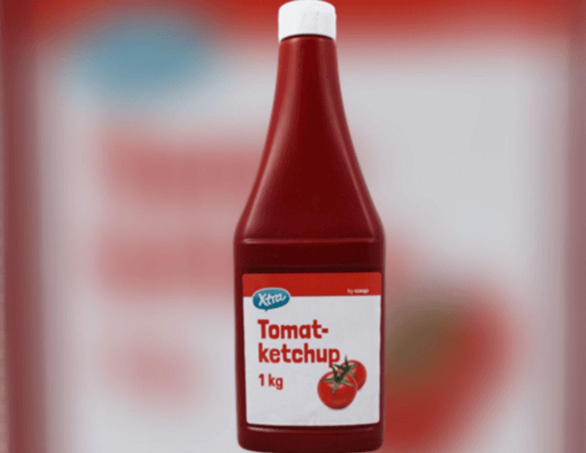 Sådan ser den ene af de to slags ketchup ud. Foto: Coop.