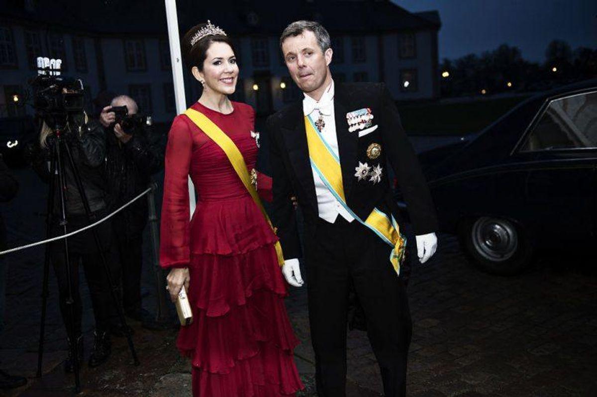 Kronprins Frederik og kronprinsesse Mary deltager i eftermiddagens bisættelse. Foto: Mathias Løvgreen Bojesen/Scanpix (Arkivfoto)