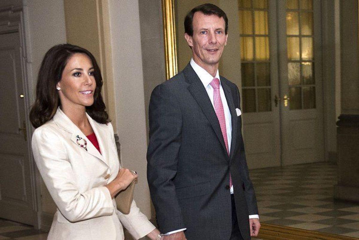 Prinsesse Marie og prins Joachim tager også med til bisættelsen af prins Richard. Foto: Nils Meilvang/Scanpix (Arkivfoto)