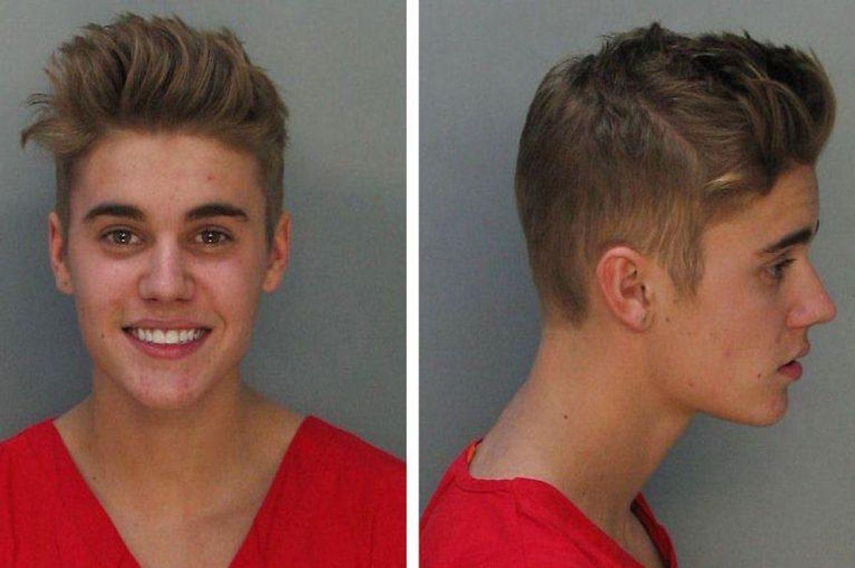 Superstjernen Justin Biebeer har været arresteret flere gange i 2014 bl.a. for hasaderet kørsel, at modsætte sig anholdelse og at bruge et udgyldigt kørekort. Foto: Miami-Dade Corrections and Rehabilitation Department / SCANPIX