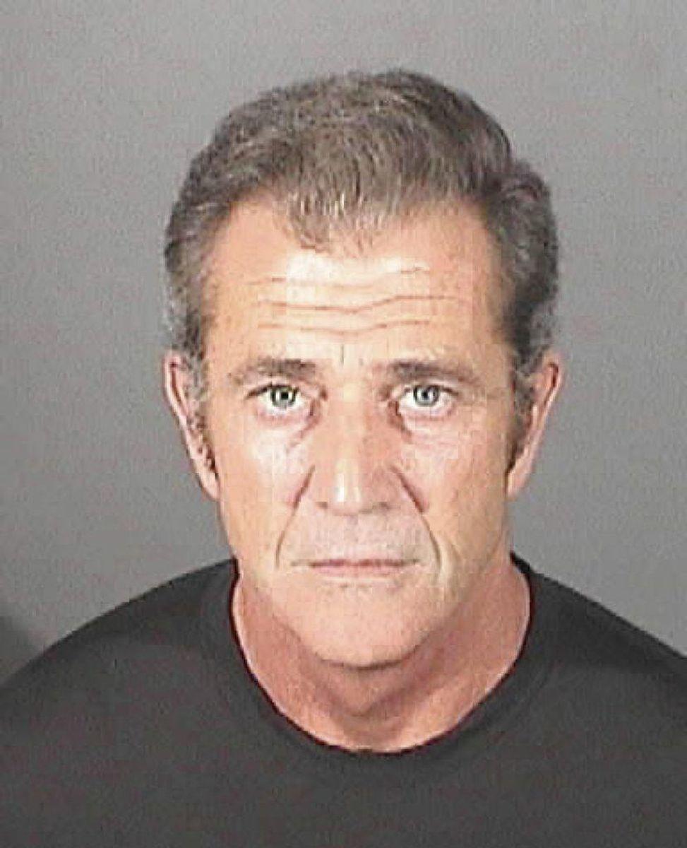 Skuespilleren Mel Gibson blev i 2006 arresteret for at køre påvirket. I 2011 blev han igen anholdt for vold efter et slåsmål med sin daværende kæreste. Foto: El Segundo Politi / SCANPIX