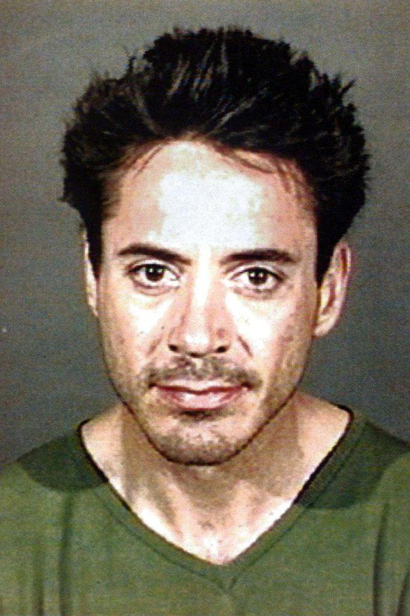 Skuespilleren Robert Downey Jr. var i slutningen af 90'erne og starten af 00'erne ude og inde af fængsel talrige gange grundet stoffer. Foto: Culver City Politi / SCANPIX