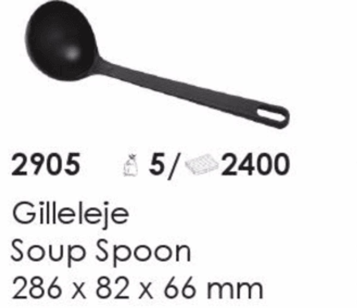 Gilleleje Soup Spoon, artikel nr. 2905 (Suppeske) Foto: Screenshot fra katalog fra Plast Team A/S.