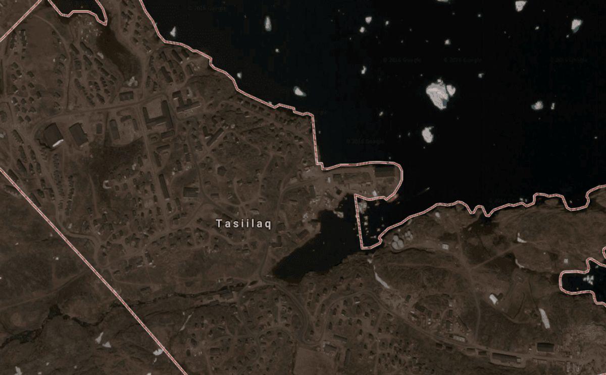 Drabsforsøget skete her i Tasiilaq, hvor parret bor. Foto: Google Maps