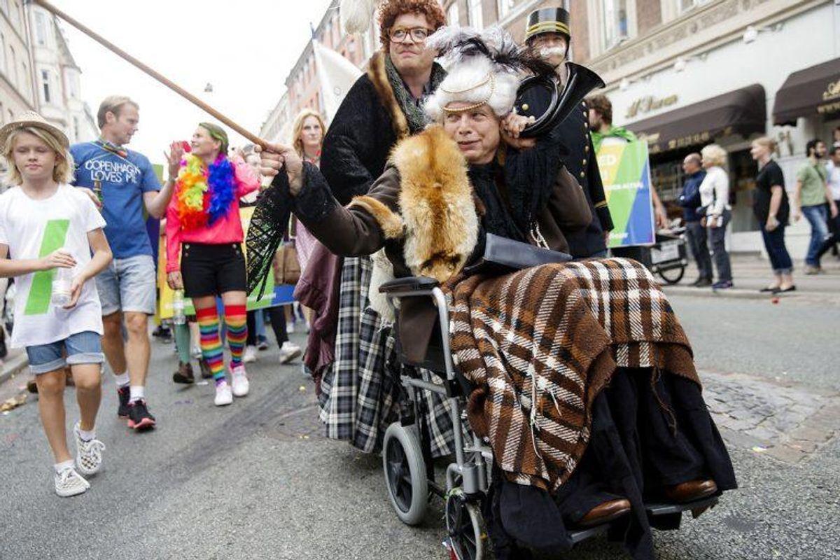 Alternativets Uffe Elbæk sommiss møhge fra Matador.. Foto: Jens Astrup/Scanpix.