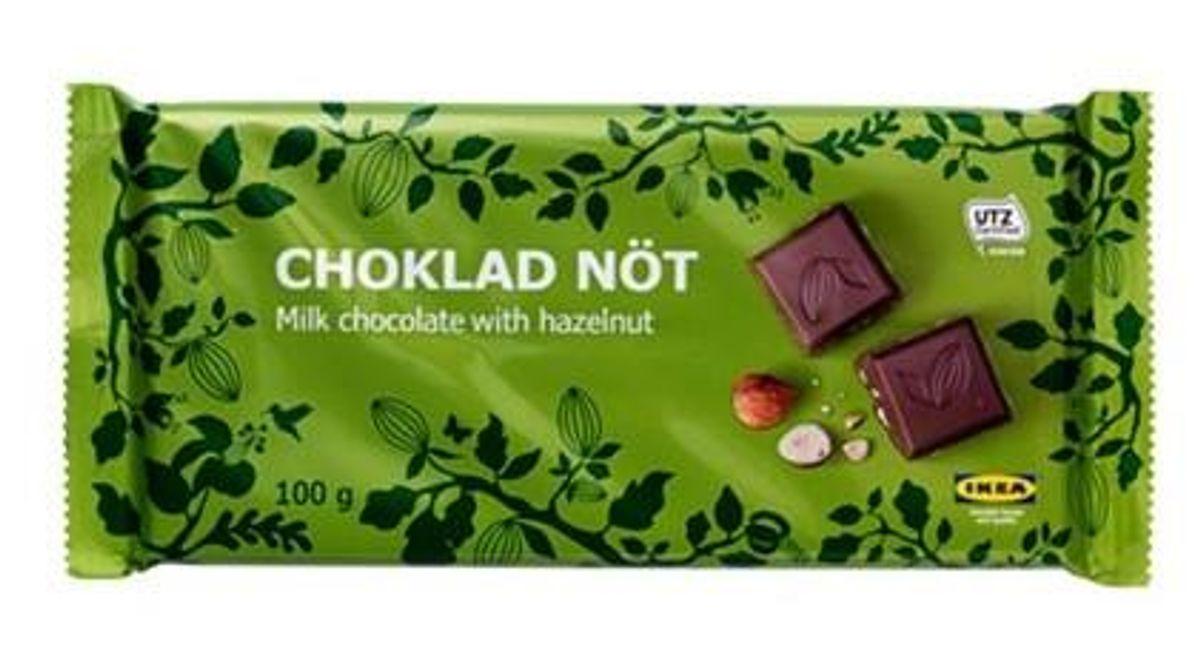 Ikea tilbagekalder denne chokolade. Solgt i Danmark. Foto: Ikea.