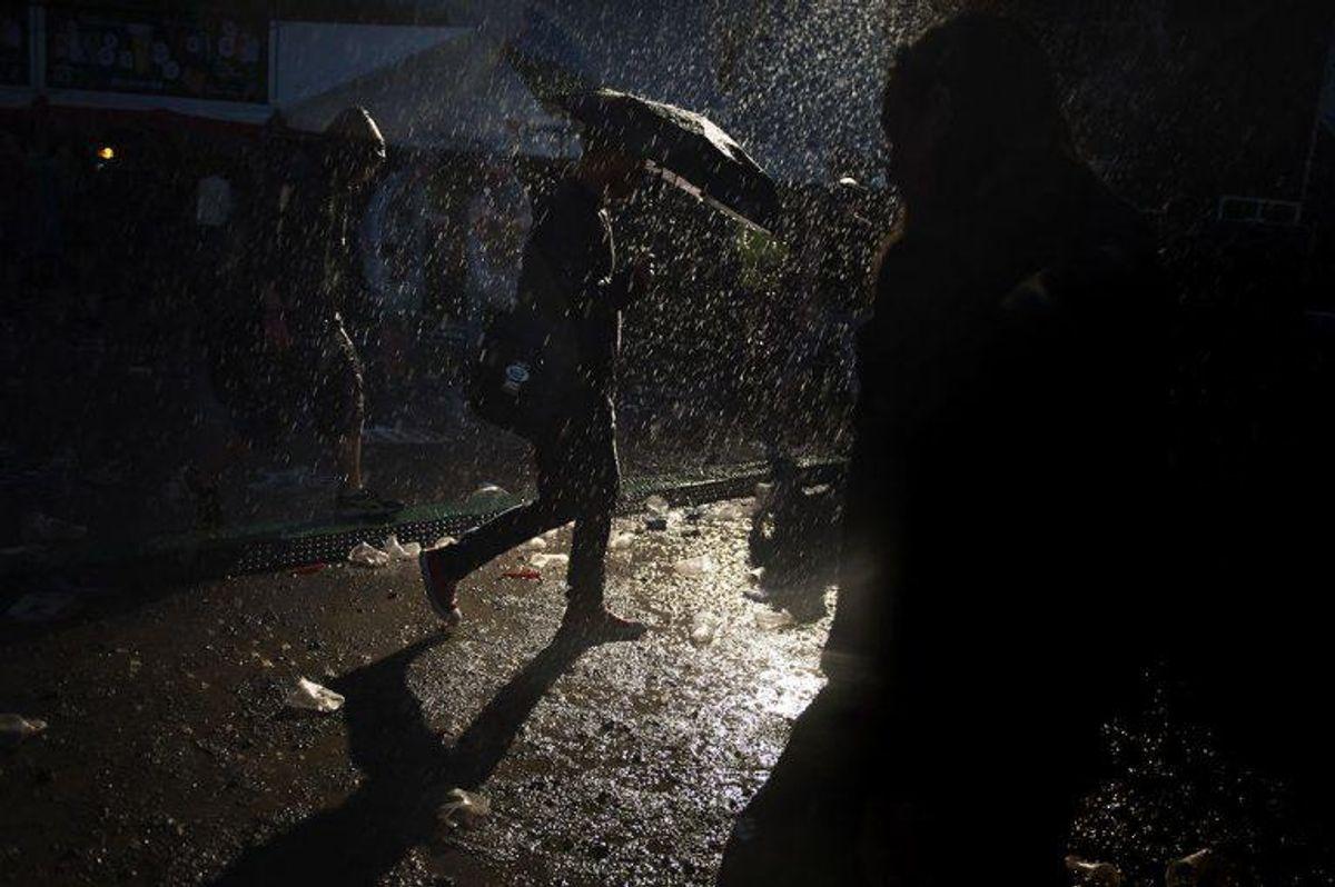 Det meste af landet bliver ramt af massiv regn og torden tirsdag. Foto: Mathias Løvgreen Bojesen/Scanpix