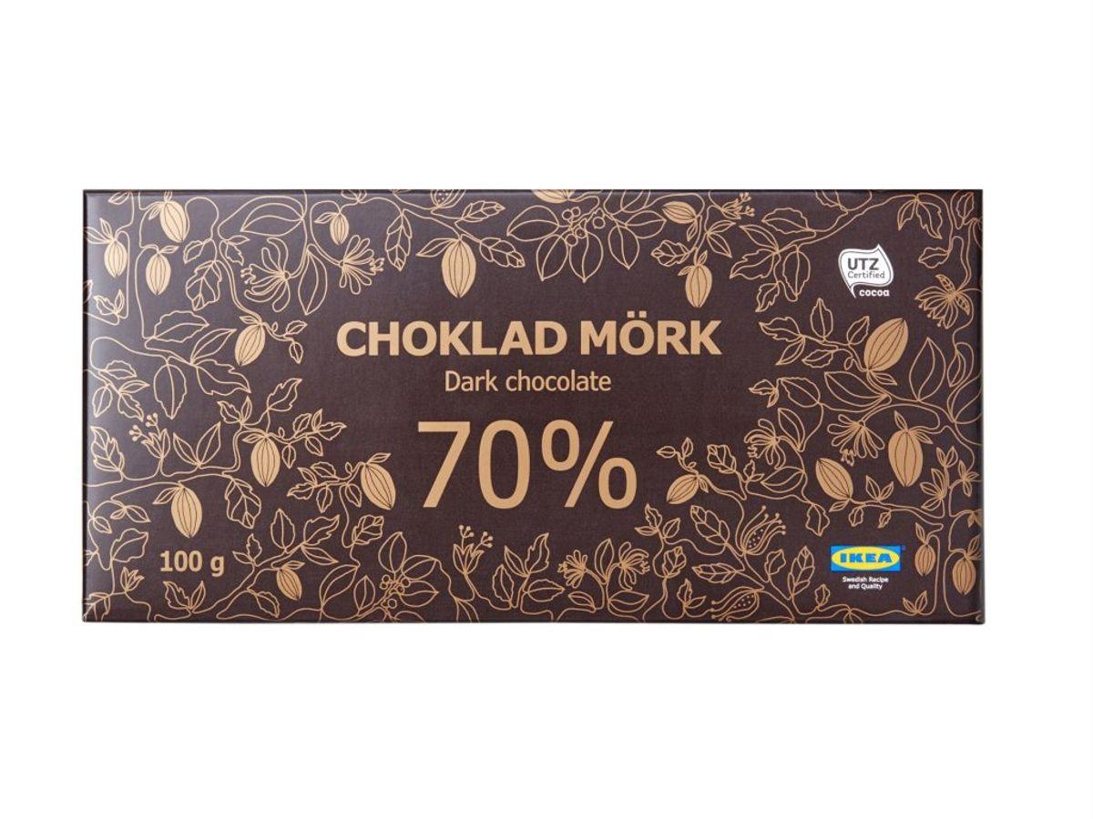 Denne 70% chokolade trækkes tilbage. Foto: Ikea.