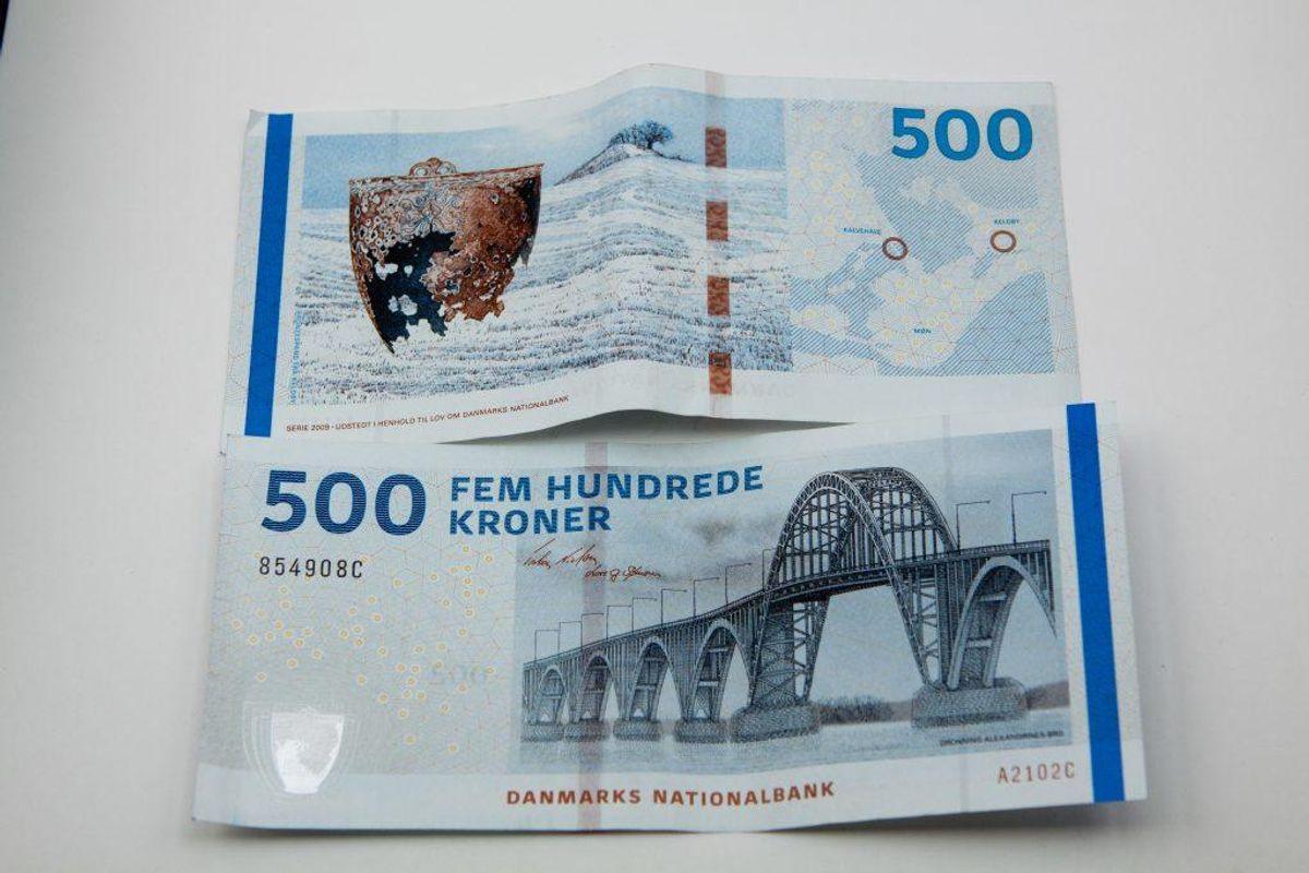 Sydsjællands og Lolland-Falsters Politi har ved en større aktion anholdt flere personer i forbindelse med fremstilling af falske 500-kronesedler. Foto: Colourbox