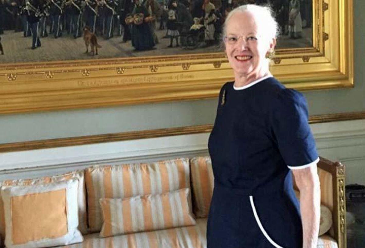 Kronprinsen har taget det første foto af dronning Margrethe til lanceringen af Kongehuset på Facebook og Instagram. Foto: Kongehuset.