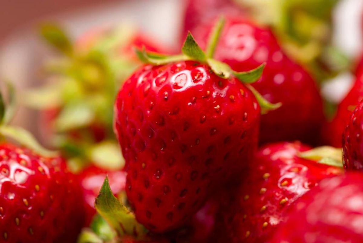 Der findes flere forskellige sorter af jordbær. Derfor kan sæsonen strække sig over mange måneder. Foto: Colourbox.com (Modelfoto)
