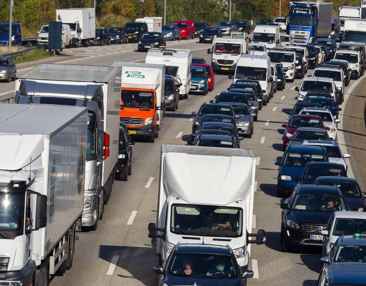 Uheld på Vestmotorvejen har skabt trafikale problemer. Foto: Torben Klint/Ritzau Scanpix
