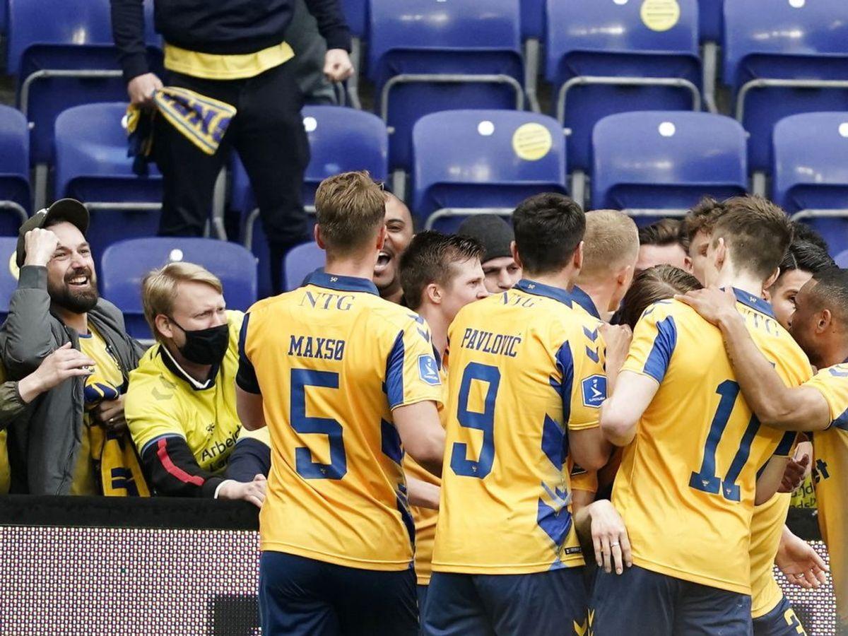 Brøndby vinder 3-1 hjemme over FC Midtjylland i Superligaen. Foto: Scanpix.
