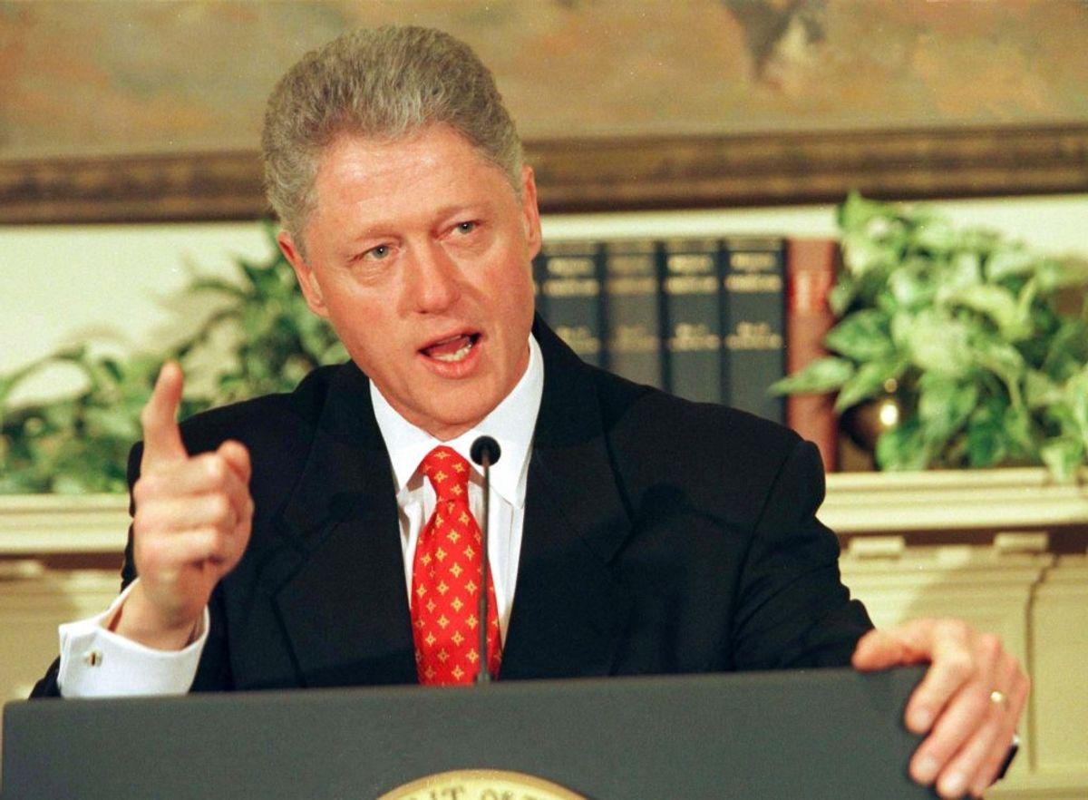 I 90'erne kom det frem, at USAs daværende præsident Bill Clinton frem i en sag om, at han havde været utro med praktikanten Monica Lewinski. Foto: Win McNamee REUTERS/Scanpix