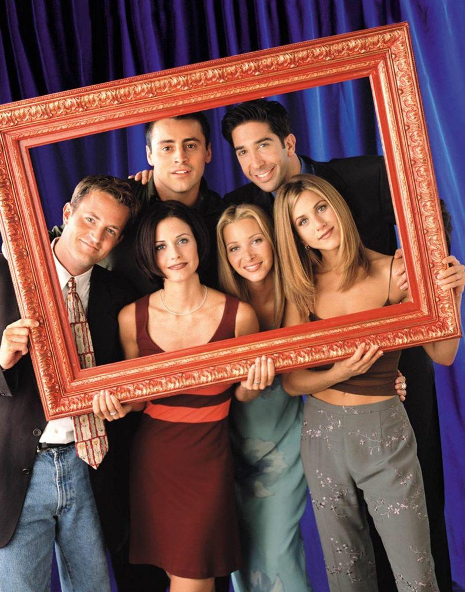 Matthew Perry, Courteney Cox Arquette, Matt LeBlanc, Lisa Kudrow, David Schwimmer og Jennifer Aniston blev allemandseje i TV-serien Venner, der stadig er uendeligt populær i dag. Foto: REUTERS/Handout/Jon Ragel/Scanpix