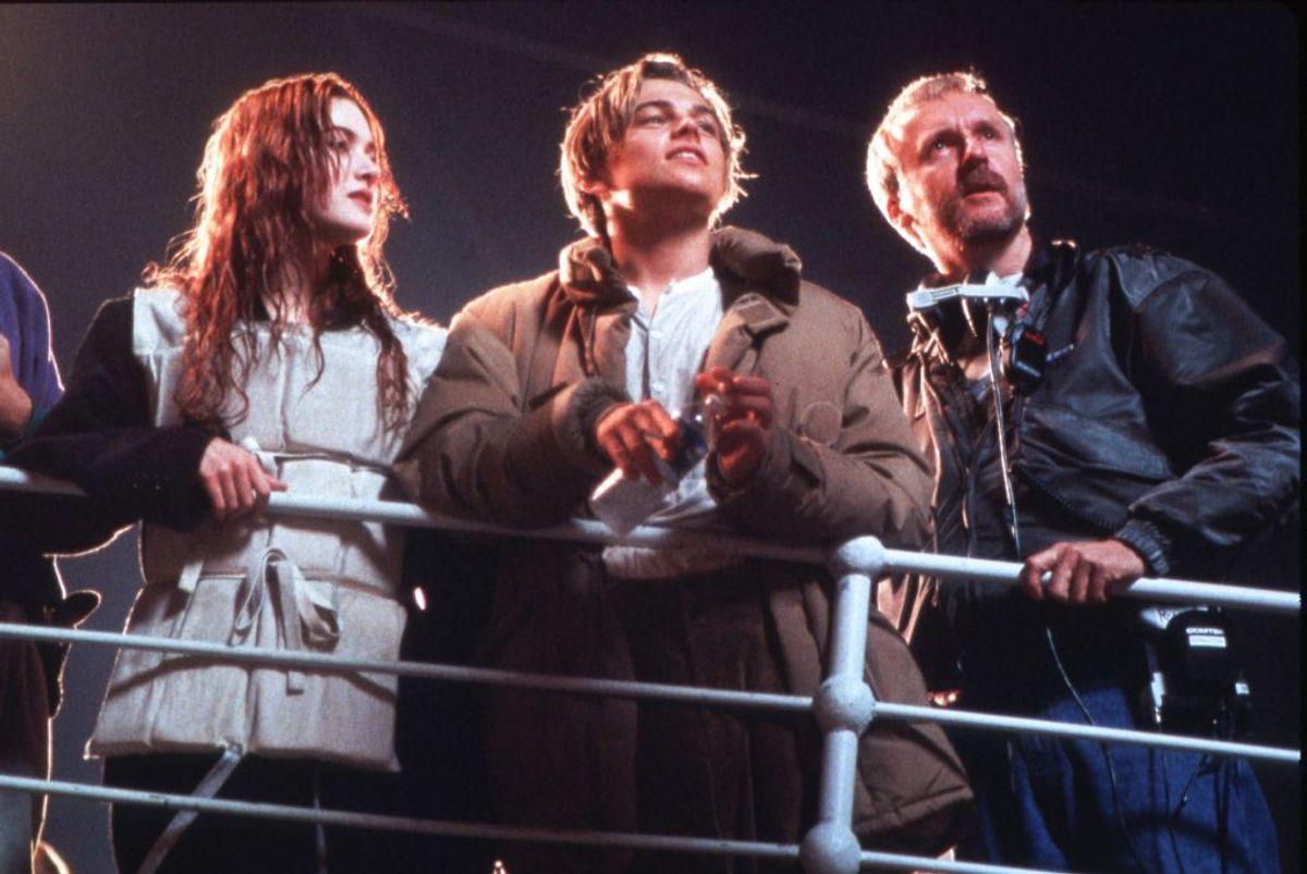 Du så hitfilmen Titanic, der blev instrueret af James Cameron. Filmen blev en af de mest sete i 90'erne og havde Kate Winslet og Leonardo DiCaprio i hovedrollerne. Foto: Merle Wallace/paramount Studios REUTERS/Scanpix