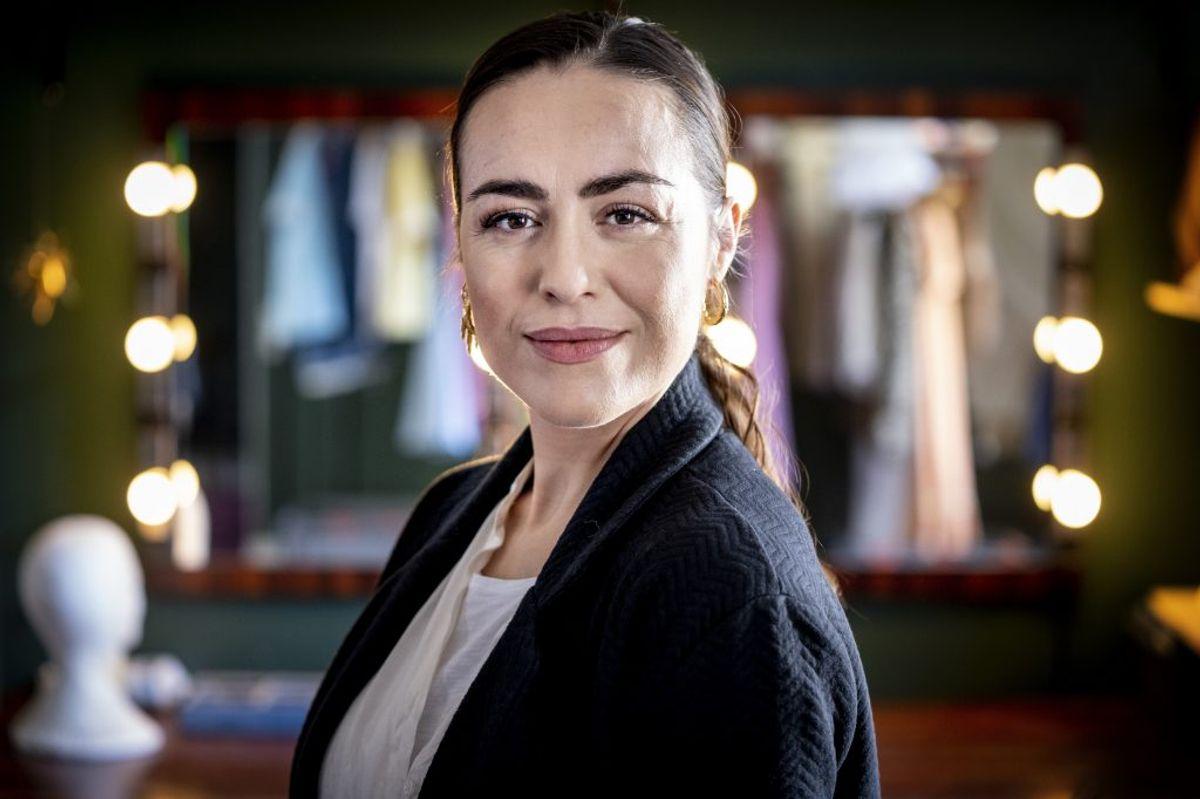 """Maria  Lucia har sin første rolle efter sin barsel som tjeneren Jenna i musicalen """"Waitress"""" på Det Ny Teater på Vesterbro i København. – Foto: Liselotte Sabroe/Ritzau Scanpix"""