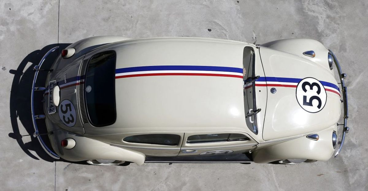 Herbie var historien om den hvide perle af en Volkswagen Beetle. Foto: REUTERS/Paulo Whitaker/Scanpix