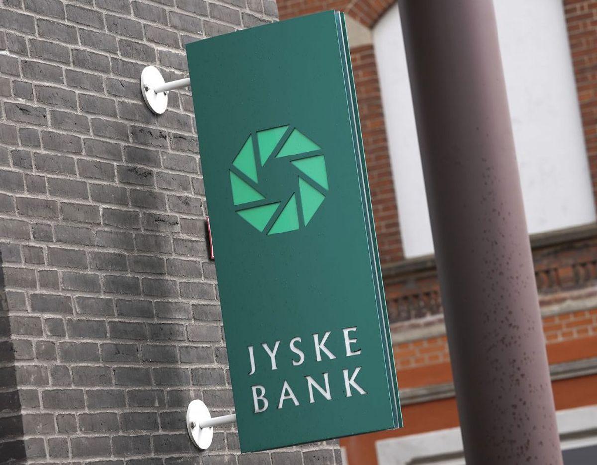 Politiet har i dag afspærret to bankfilialer efter fund af ukendt pulver Foto: Claus Fisker/Ritzau Scanpix
