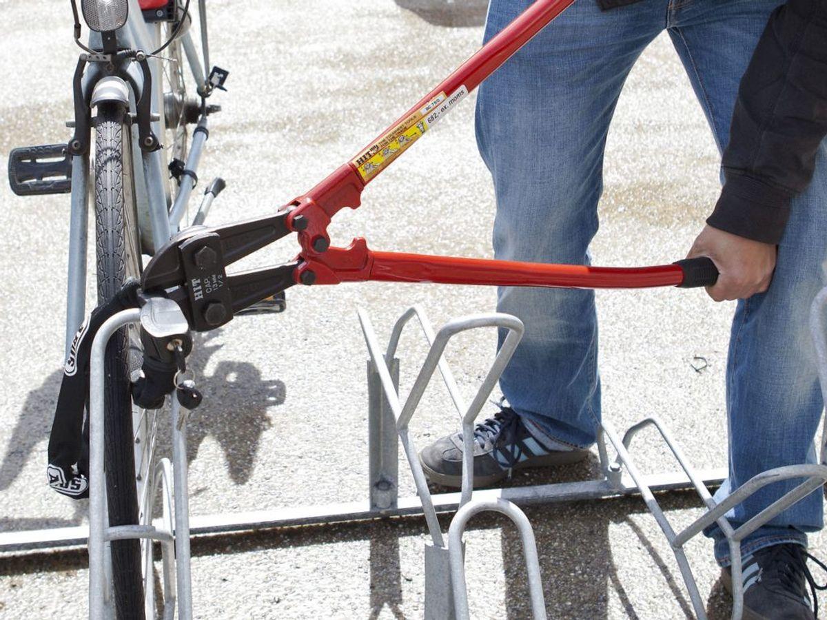En cykeltyv tog cyklen til arbejdet. Det slap han ikke godt fra… Foto: Betina Garcia/Ritzau Scanpix