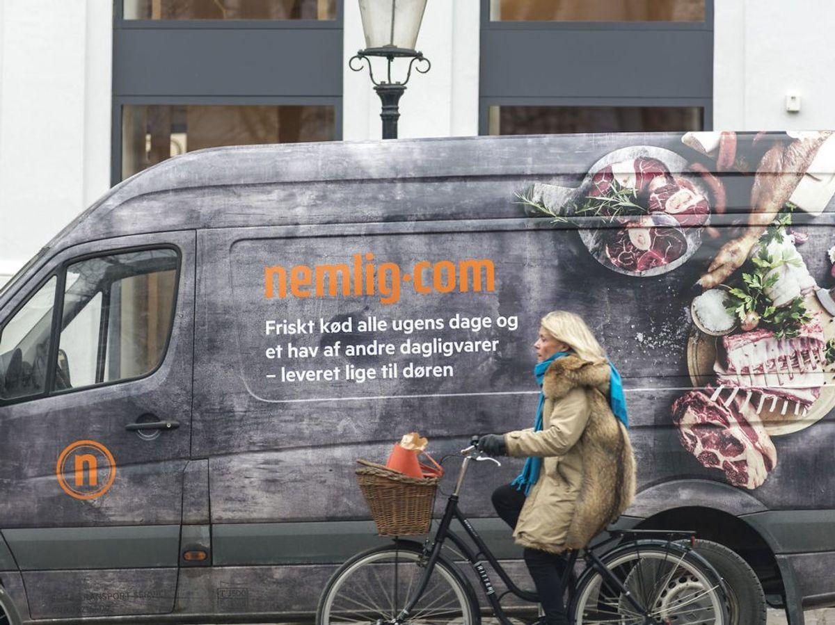 10 procent af de breve, som 3F har sendt ud til Nemlig.com-chauffører, er kommet tilbage. Foto: Christian Lindgren/Ritzau Scanpix