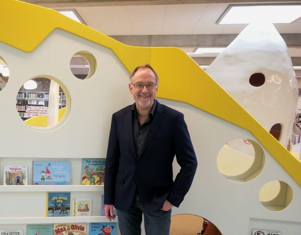 Magion Biblioteket vil have flere økonomiske midler, lyder det fra bibliotekschef Ole Bisbjerg. Han lægger pres på politikerne i Billund Kommune. Pressefoto