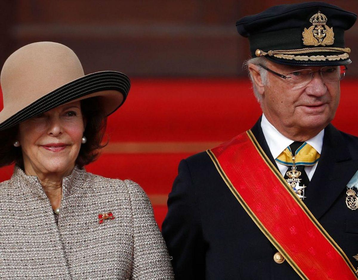 Det svenske kongepar, kong Gustaf XVI og dronning Silvia. Foto: Scanpix/Odd ANDERSEN / AFP