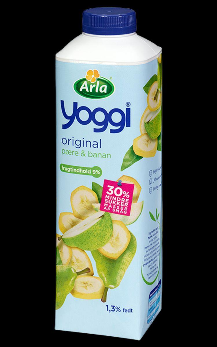 Og denne: Yoggi 1 kg pære/banan – holdbarhedsdato MHT 27/2-2016. Foto: Arla.