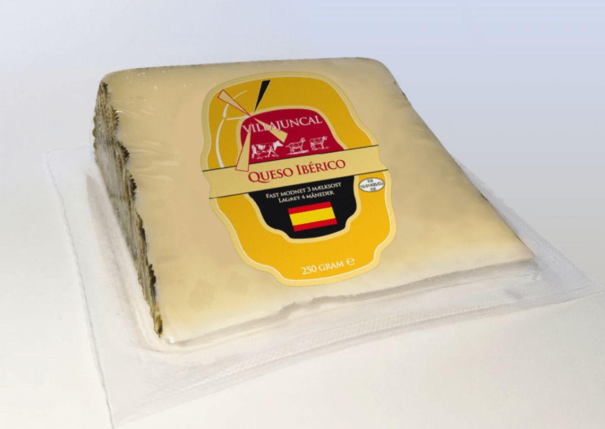 Det er denne Iberico-ost, der ifølge Fødevarestyrelsen kaldes tilbage. Foto: Fødevarestyrelsen