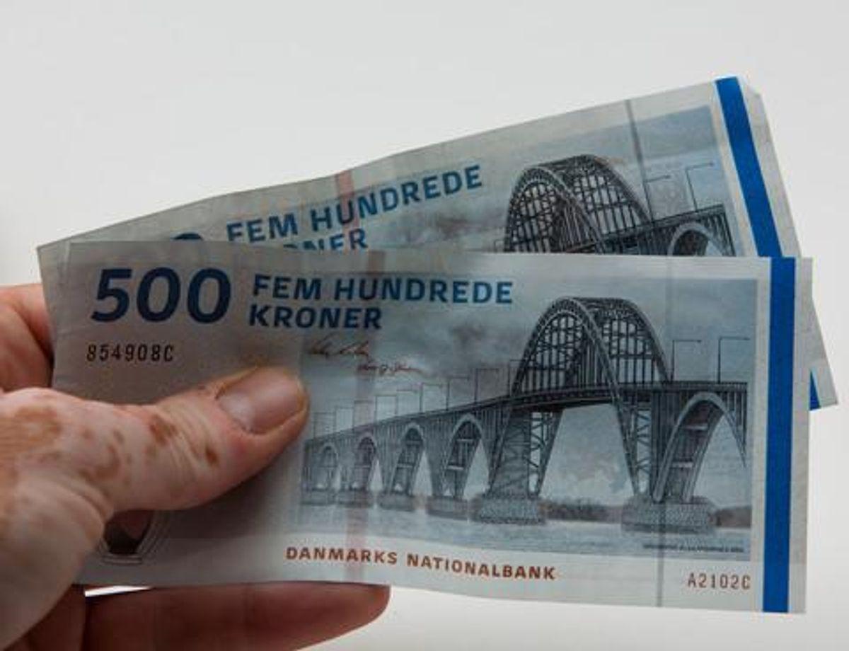 Antallet af sager med falske penge stiger. Foto: Colourbox.com (Modelfoto)