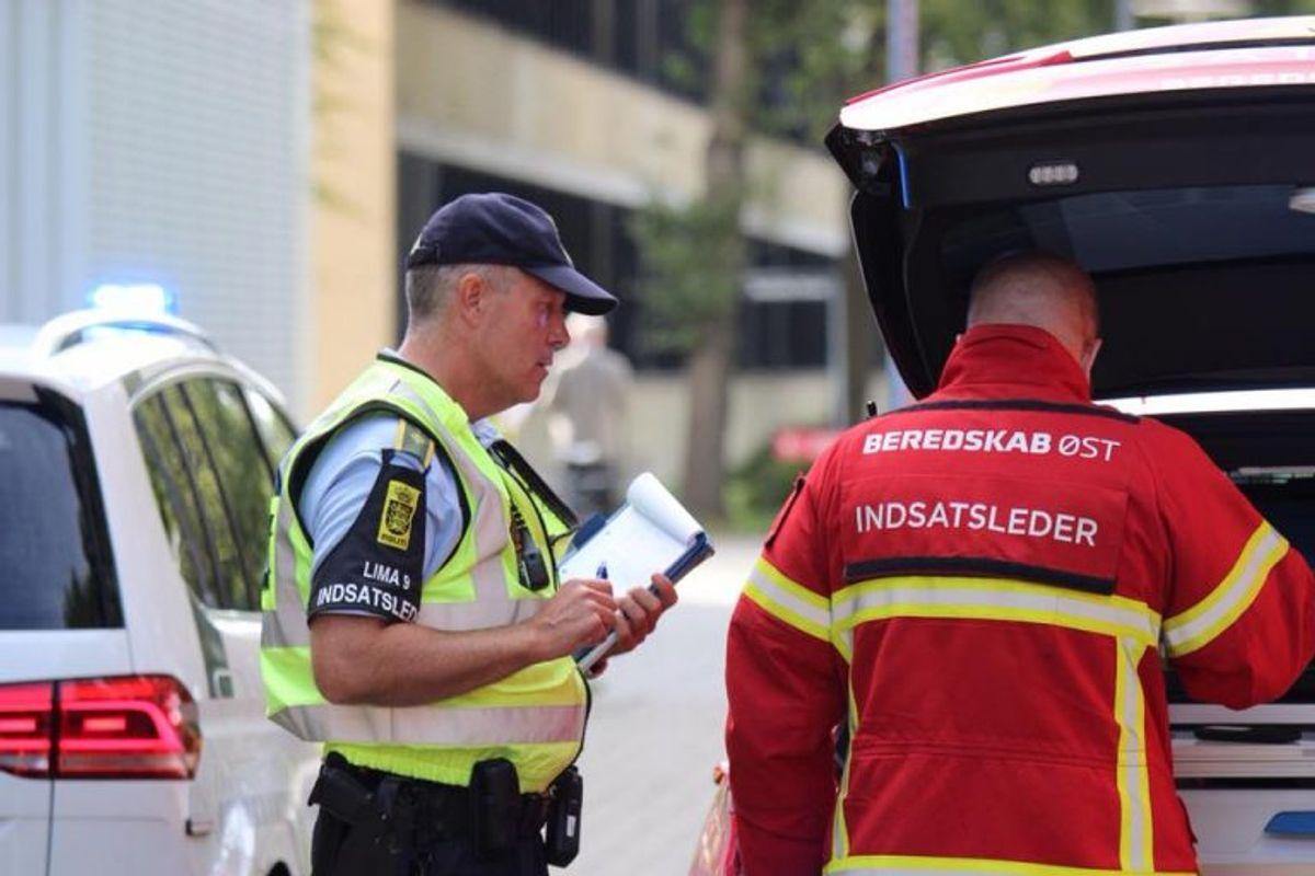 Indsatsleder-koordination. Foto: Beredskab Øst.