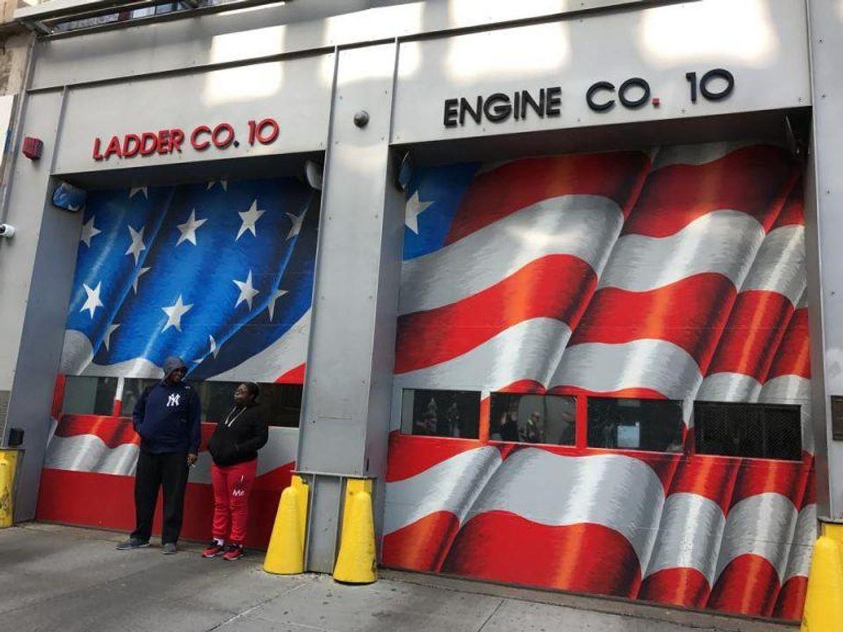 Den ligger lige ved World Trade Center. Foto: Jørgen Rosengren/Newsbreak.dk.