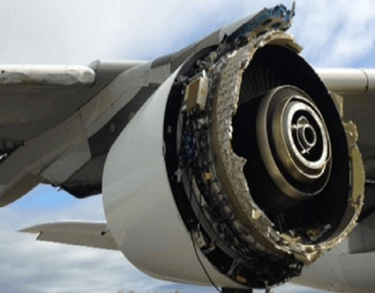 Sådan så motoren ud. Foto: Havarikommissionen.