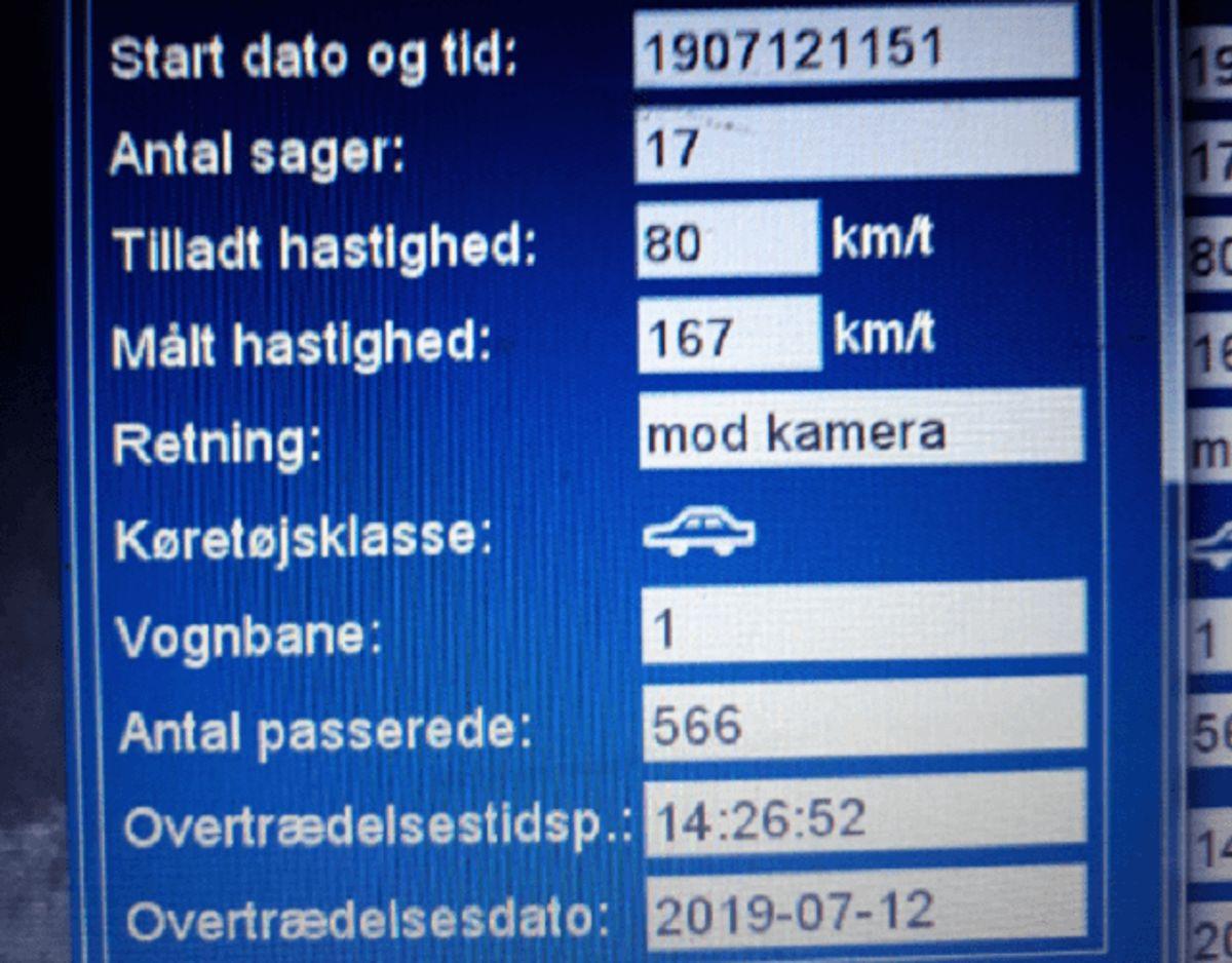 Sådan ser det ud, når man mister kørekortet. KLIK for mere info. Foto: Syd- og Sønderjyllands Politi.