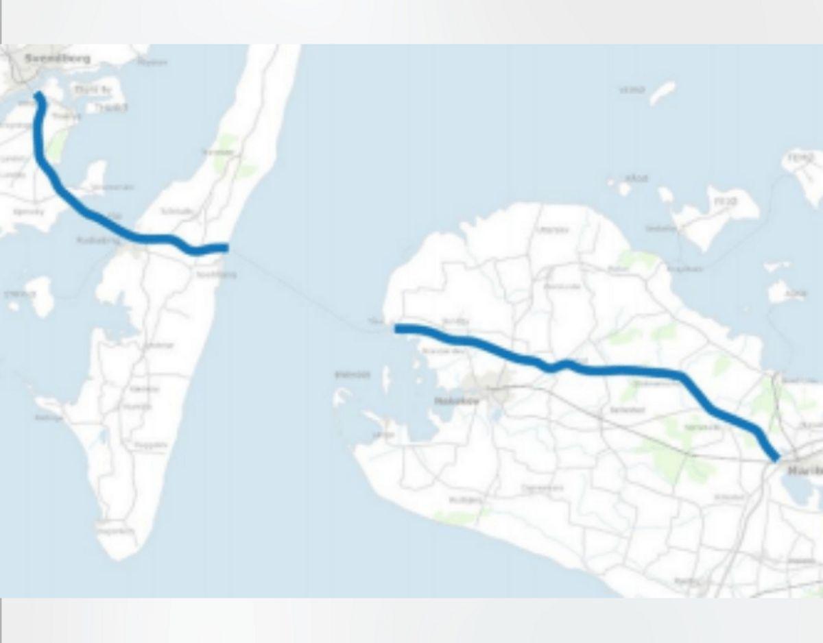 Kapacitetsforbedringer på Rute 9 mellem Maribo og Svendborg (Nørreballe mv.) Foto: TRM.dk