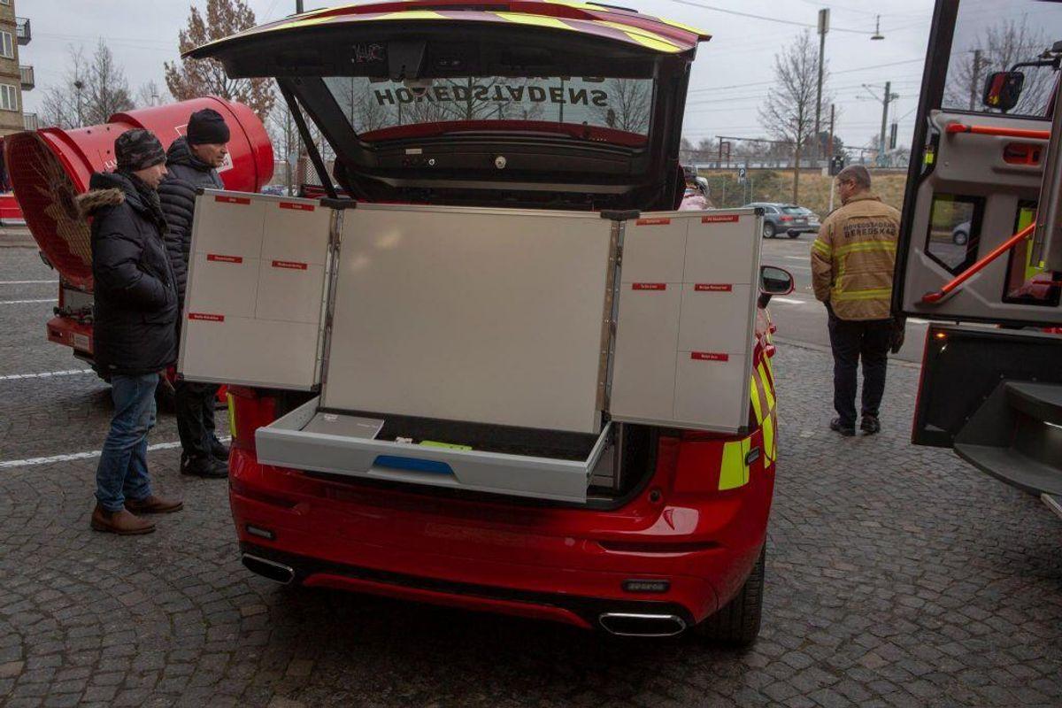 Der er to nye indsatslederbiler på vejene. Sådan ser de ud. KLIK for flere billeder. Foto: Hovedstadens Beredskab.
