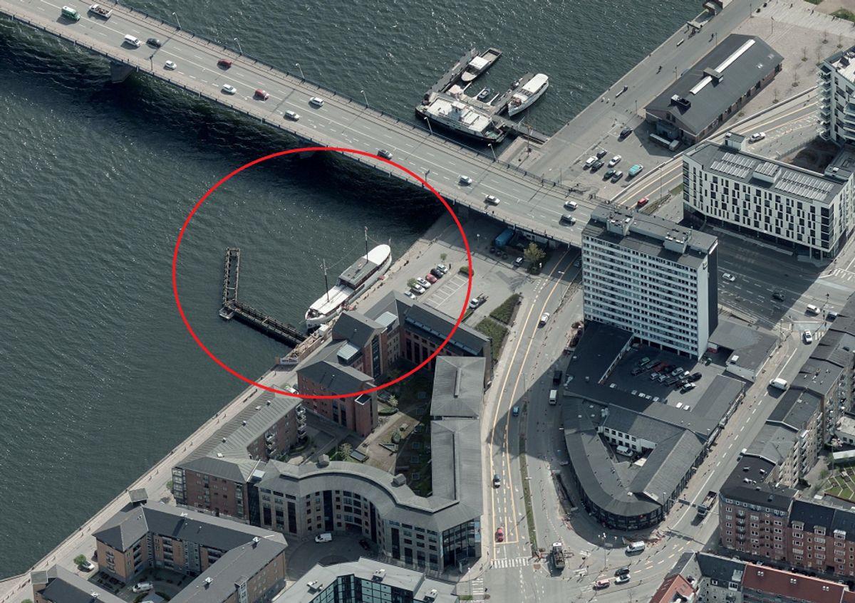 Det er i området her, manden er fundet. Foto: Skraafoto.kortforsyningen.dk
