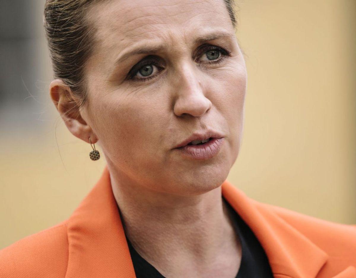 Ja, det var selvfølgelig Danmarks statsminister, Mette Frederiksen (S). Foto: Emil Helms/Ritzau Scanpix