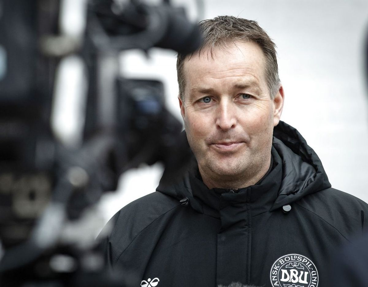 Det er den danske fodboldlandstræner Kasper Hjulmand. Foto: Bo Amstrup/Scanpix