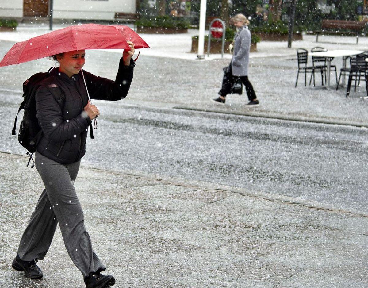 Tirsdag er der risiko for både hagl og torden. (Foto: Henning Bagger/Ritzau Scanpix)