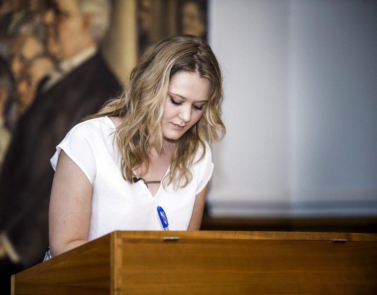 Tilde Bork var 21 år, 10 måneder og 15 dage gammel, da hun blev valgt til Folketinget for Dansk Folkeparti den 18. juni 2015. Foto: Scanpix.
