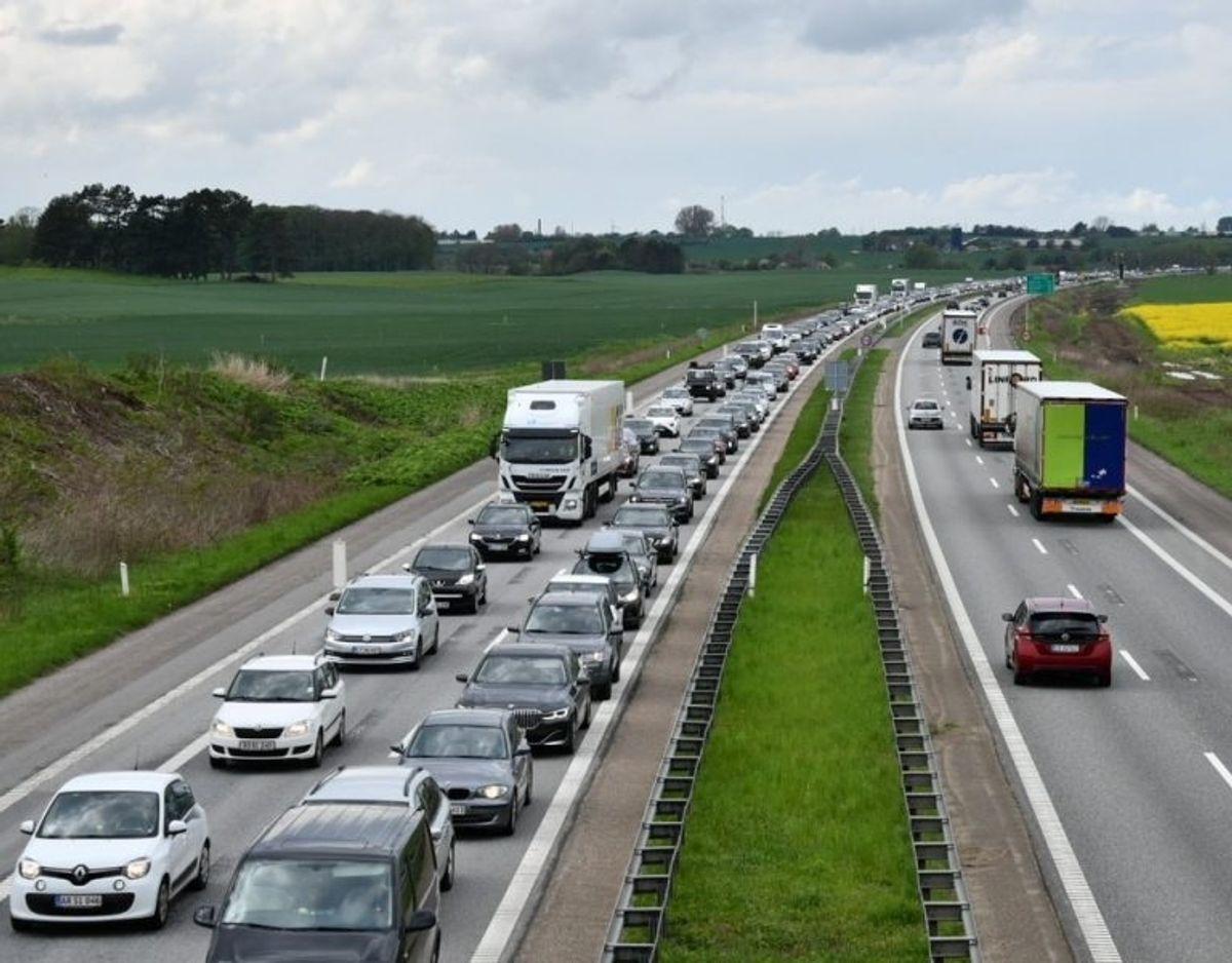 Vejdirektoratet oplyser, at der formentlig vil være kø til sidst på eftermiddagen. Foto: Presse-fotos.dk.