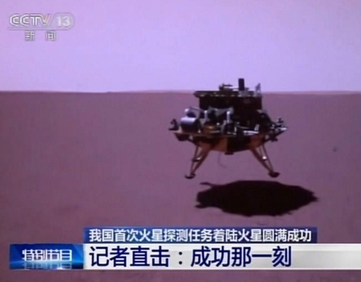 Et kinesisk rumfartøj er landet på Mars. Foto: Reuters/RitzauScanpix
