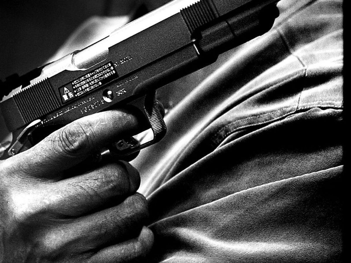 Der blev torsdag skudt efter flere personer med en hardball-pistol. Arkivfoto: Linda Kastrup/Ritzau Scanpix
