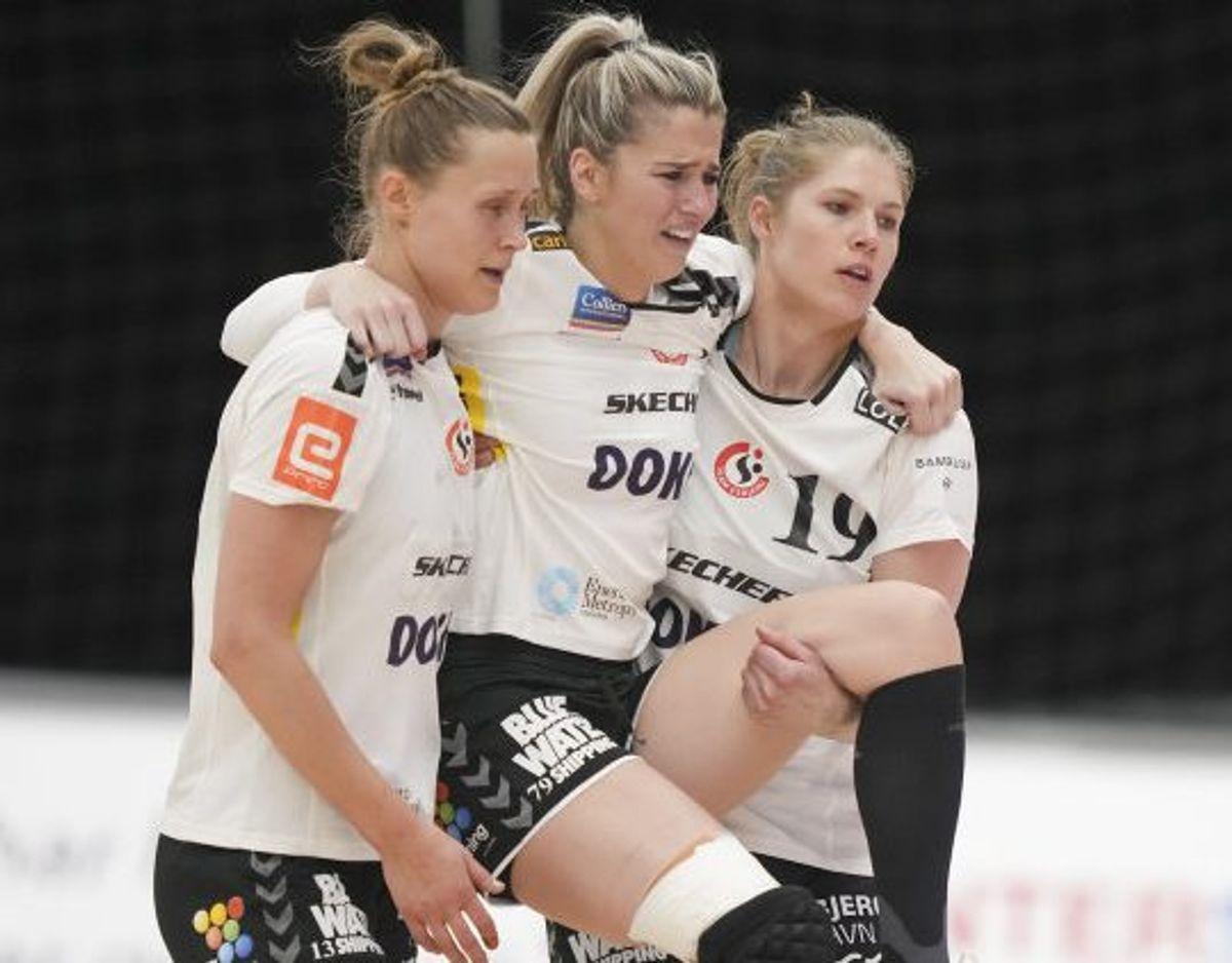 Estavana Polman (i midten) vendte for nylig tilbage efter en lang pause på grund af en alvorlig knæskade. Foto: Claus Fisker/Scanpix