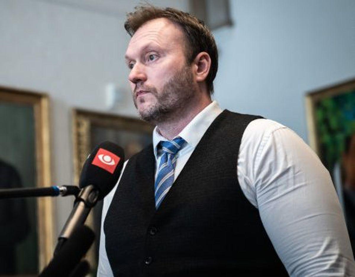 Lars Boje Mathiesen (NB) er ifølge Berlingske misbrugt i en misvisende anti-coronakampagne. Foto: Emil Helms/Scanpix