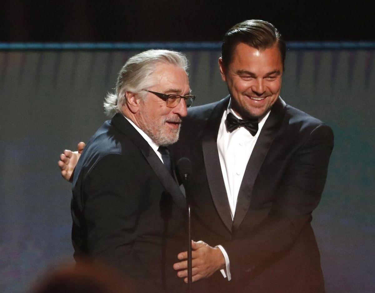 I filmen spiller Robert De Niro blandt anset sammen med Leonardo DiCaprio. Foto: Scanpix/REUTERS/Mario Anzuoni